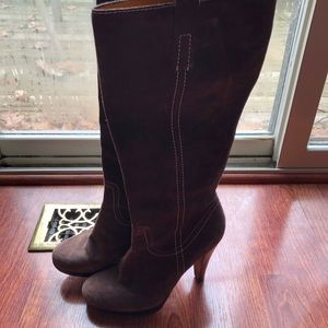Franco Sarto Brown Tall Heeled Boots